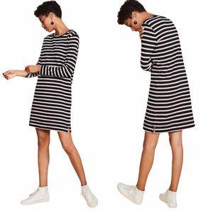 LOFT Lou & Grey Striped Long-sleeve Dress